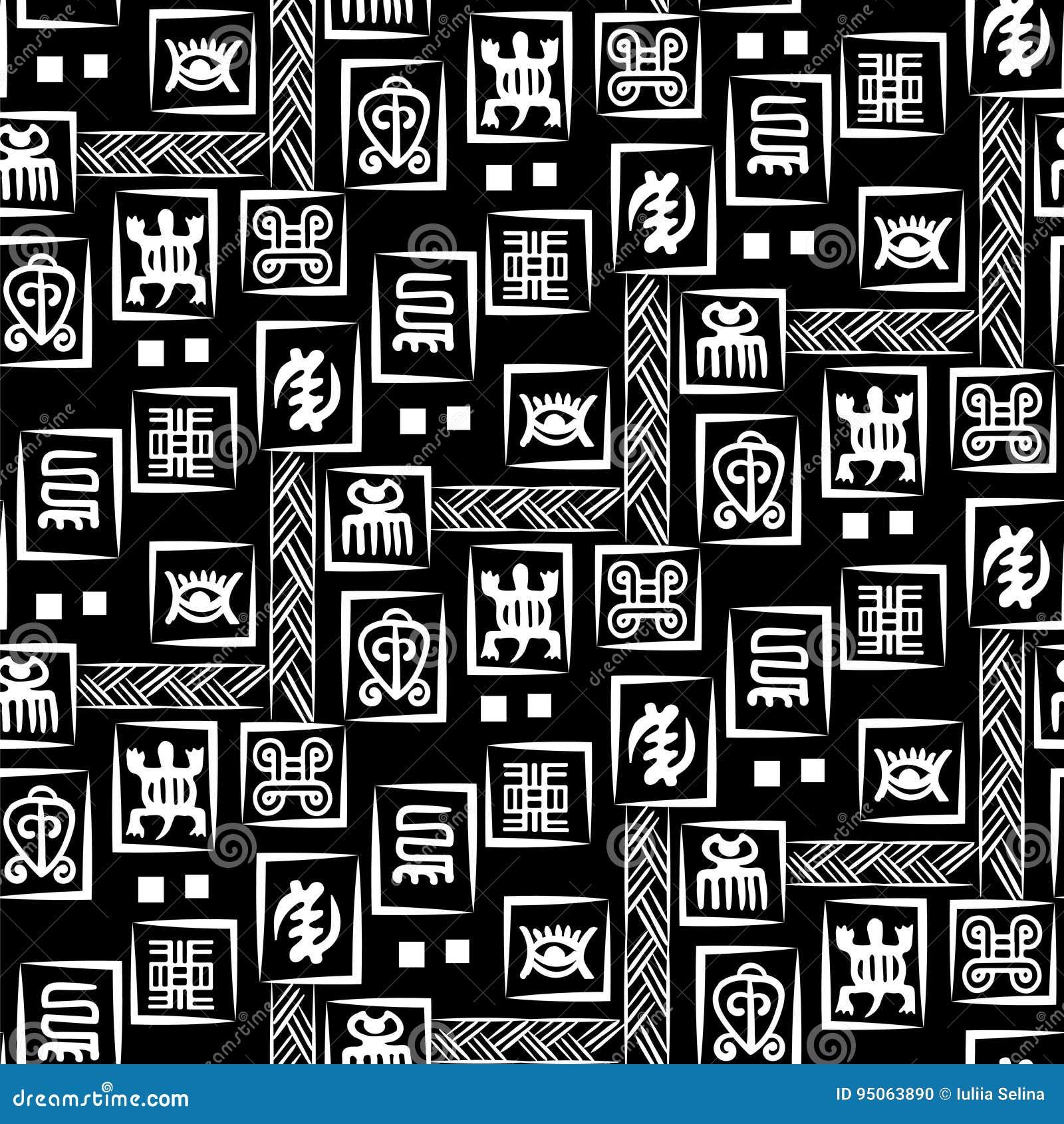 african adinkra pattern stock vector illustration of africa 95063890