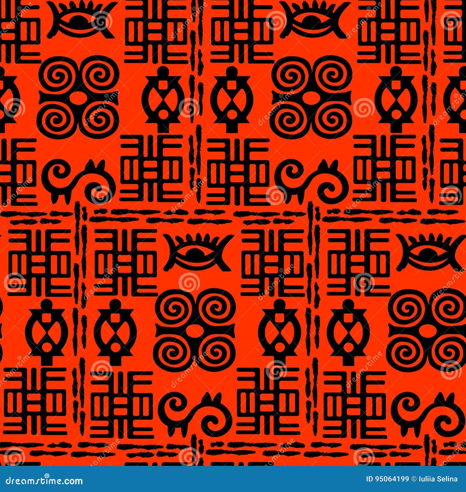 african adinkra pattern stock vector illustration of hand 95064199