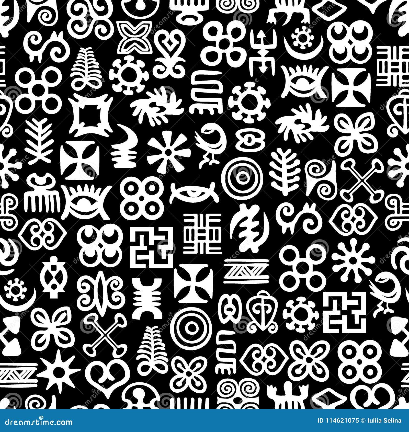 african adinkra pattern stock vector illustration of kenya 114621075