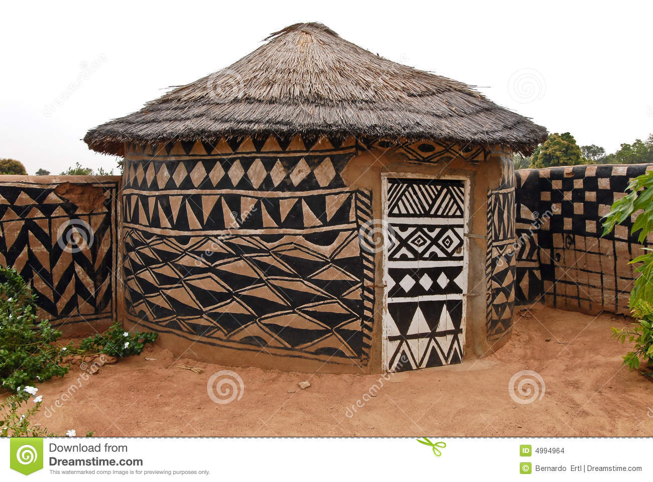 african adobe hut stock photo image of protection architecture 4994964. Black Bedroom Furniture Sets. Home Design Ideas