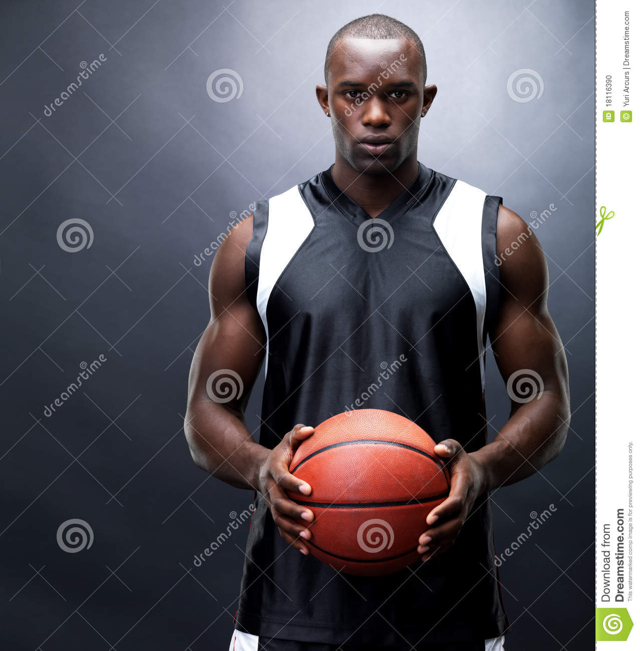 Stock Photo: African american basketball player. Image ...
