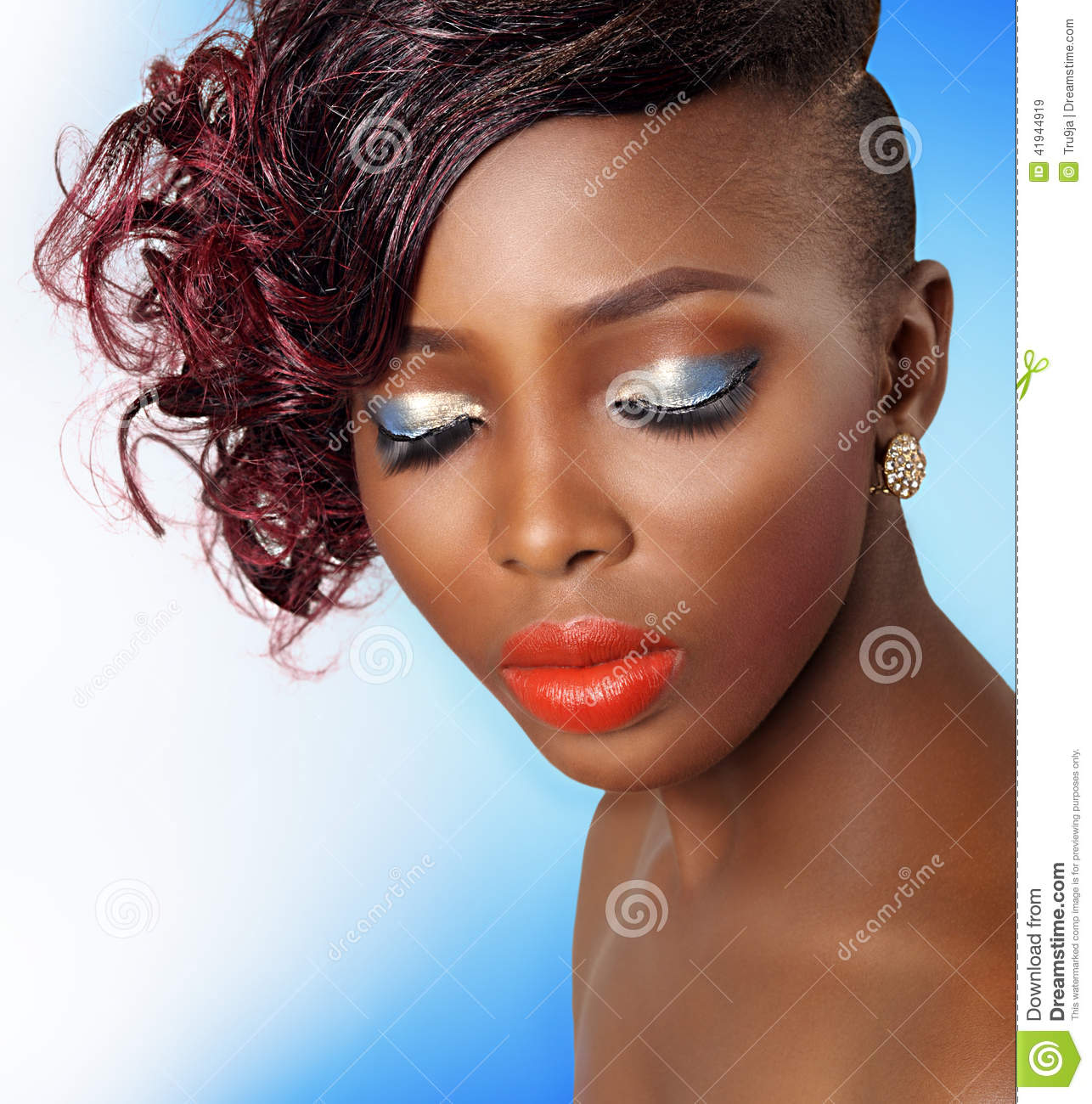 African Beauty: African American Beauty Woman Stock Photo