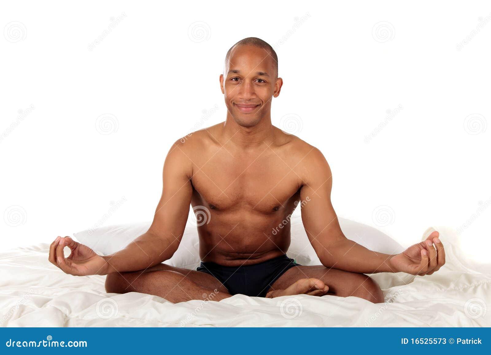 African American Bedroom Yoga Stock Image Image Of Meditation
