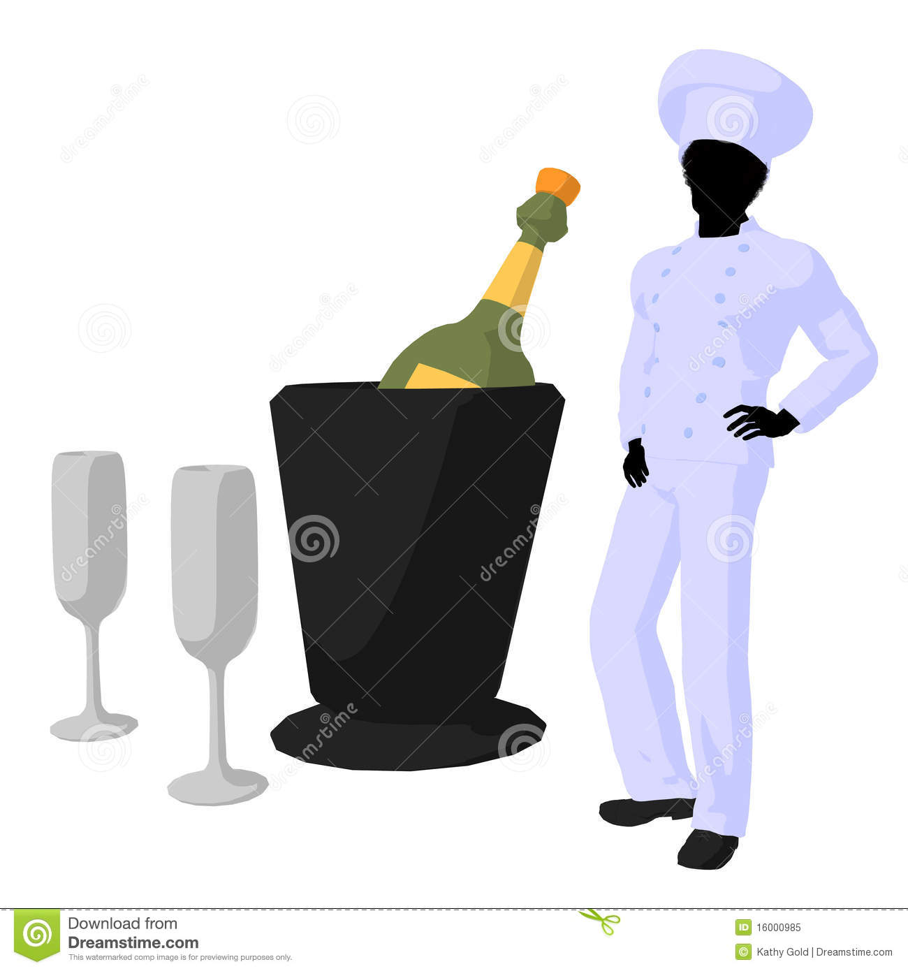 African American Chef Art Illustration Silhouette Royalty ...
