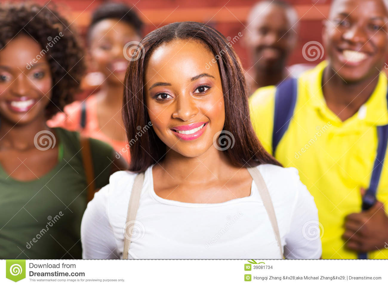 Download African American College Students Stock Photo