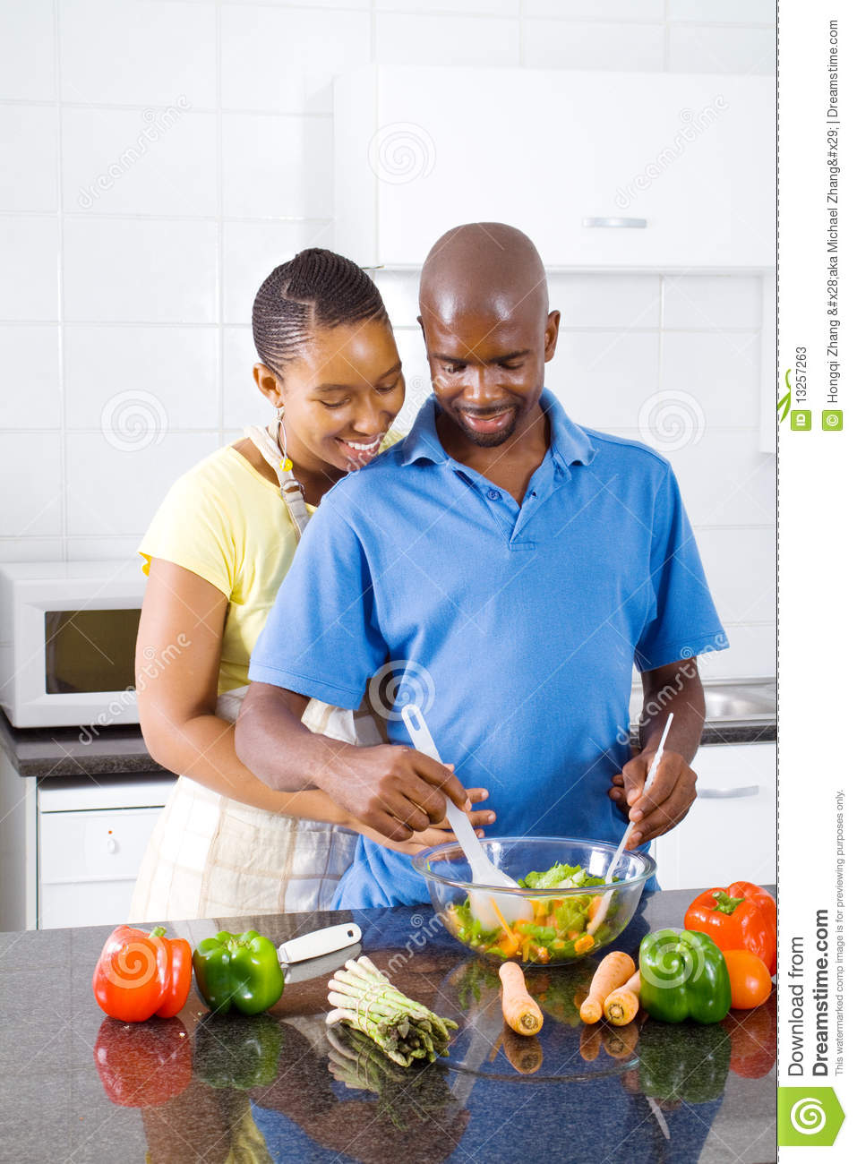 African American Couple Cooking Stock Photos Image 13257263