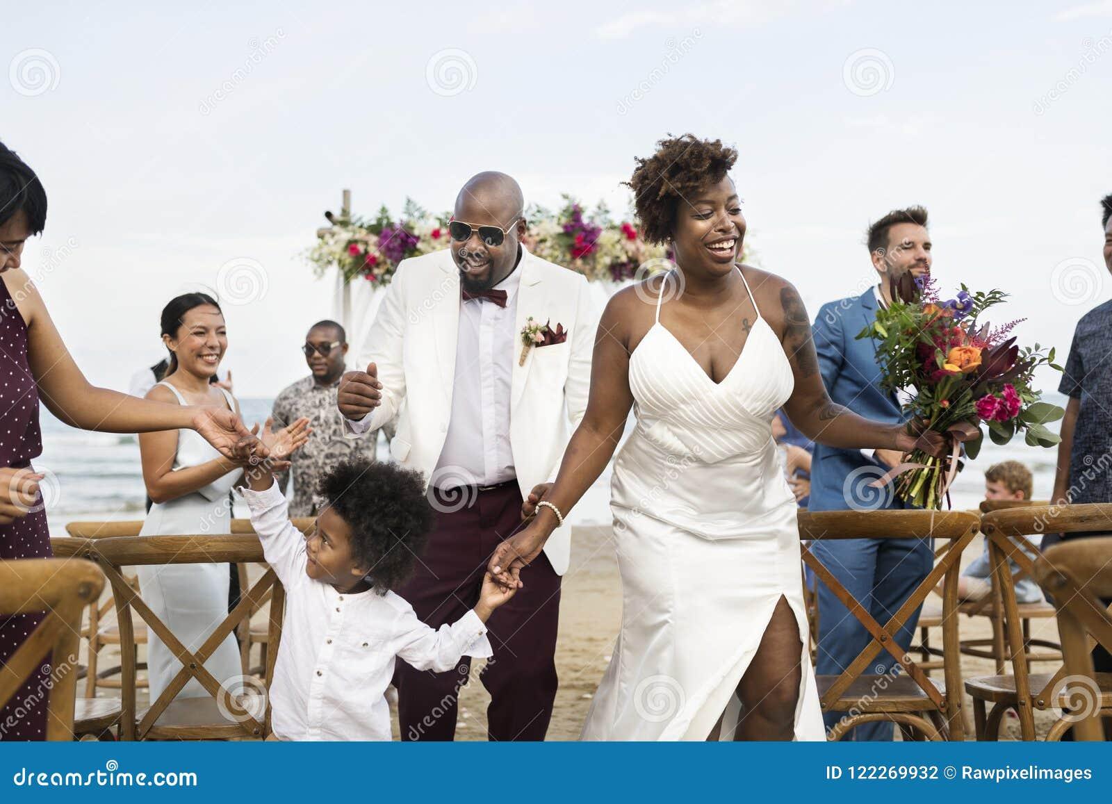 African American Wedding.African American Couple S Wedding Day Stock Photo Image Of Black