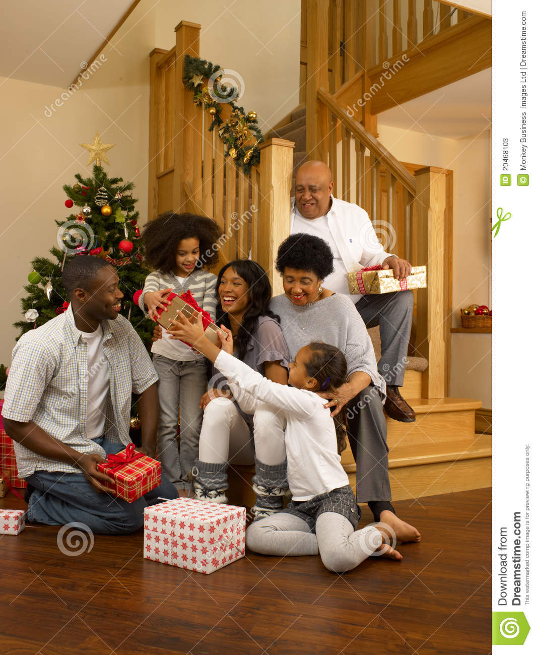 Tradition of exchanging christmas gifts