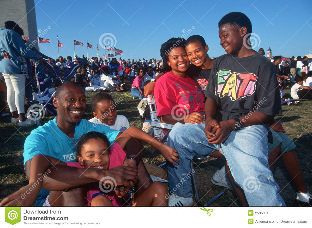 An African American Family Picnic Editorial Photo Image