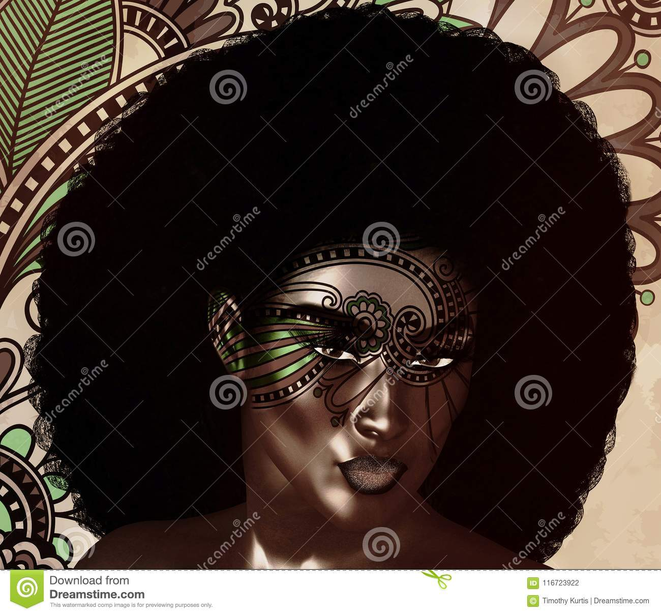 African American Fashion Beauty, Trendy Afro Hair style