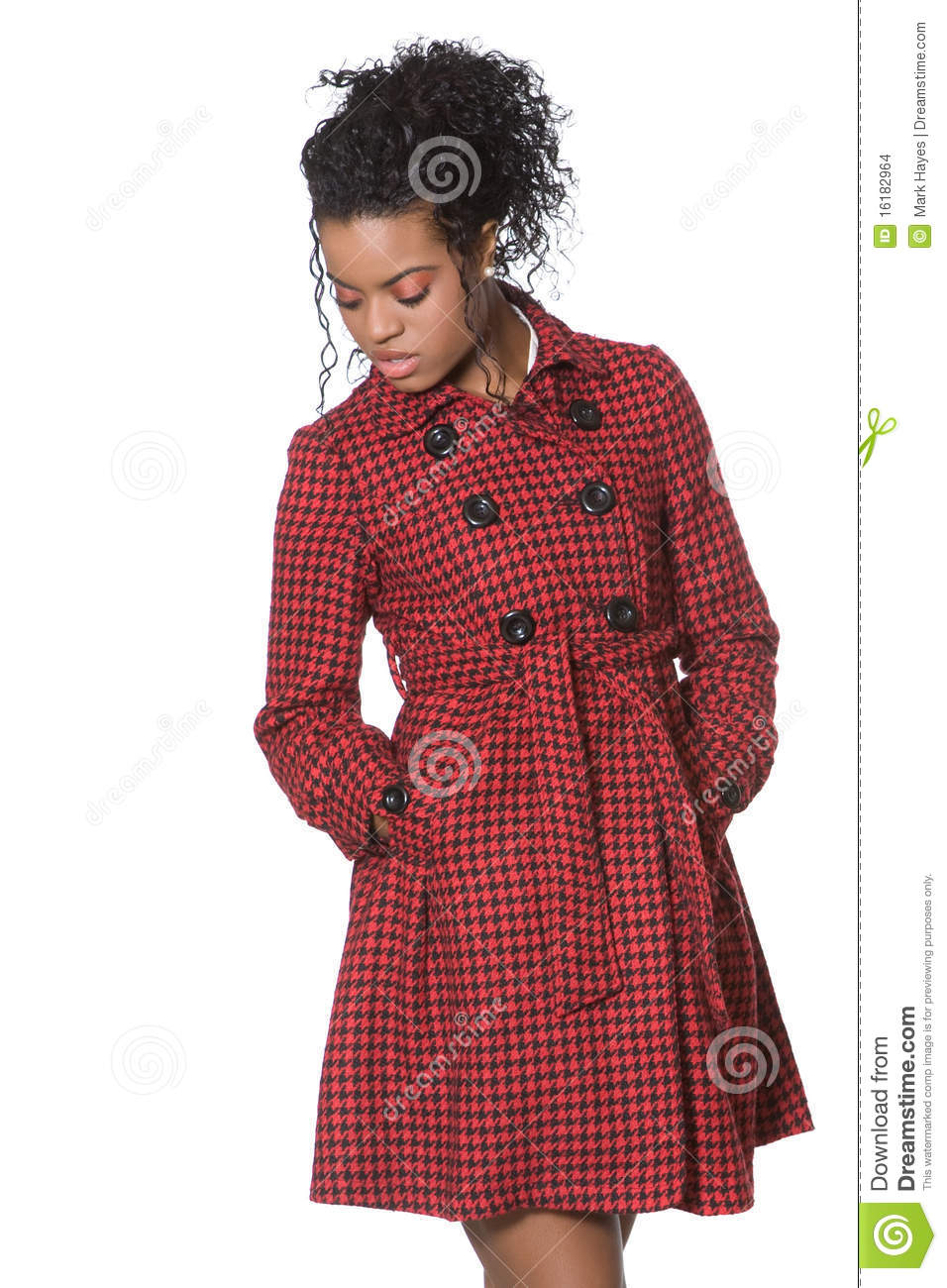 African American Fashion Model Stock Photo