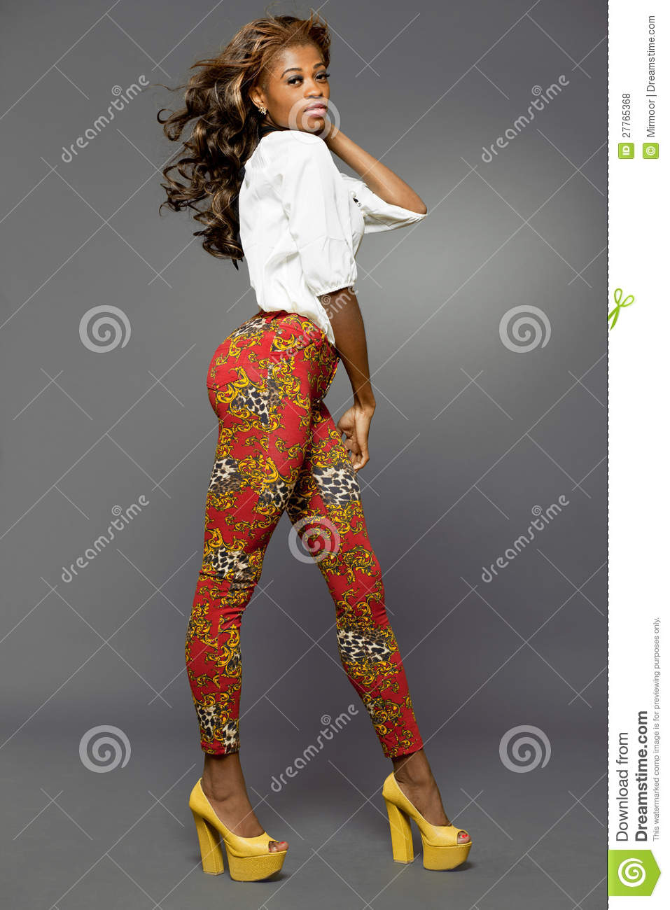 African-american Fashion Model. Royalty Free Stock Photos