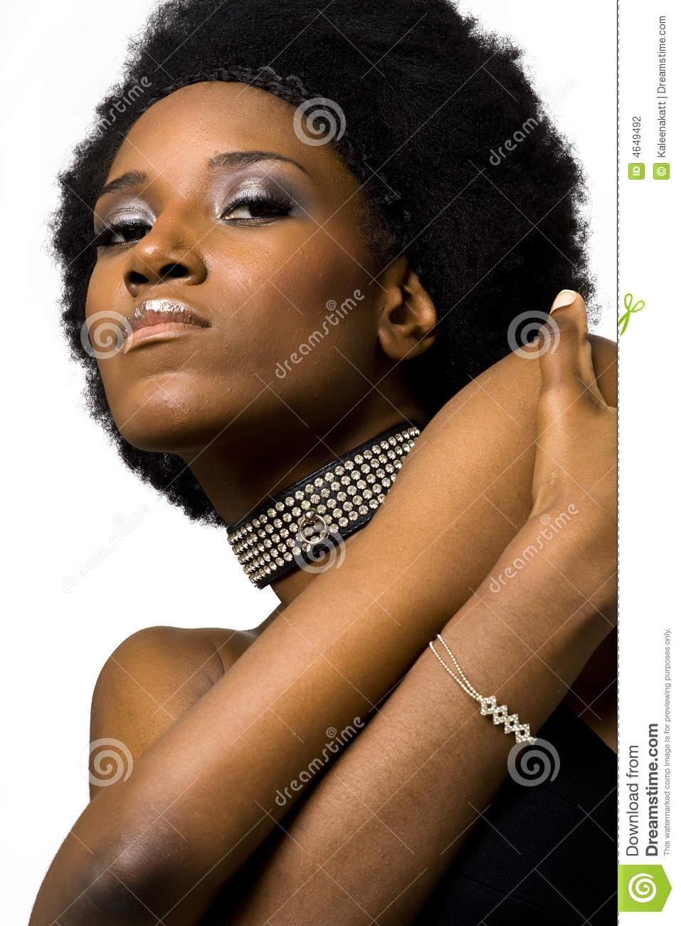 African American Fashion Model Stock Photography Image