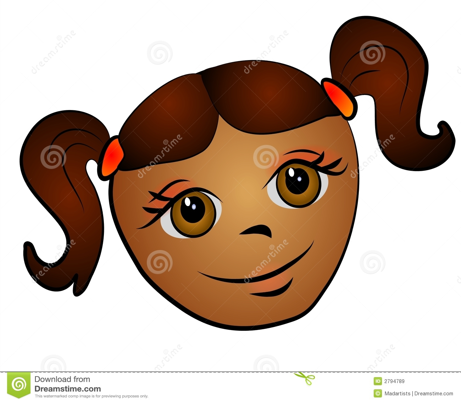 African American Girl Clip Art Stock Illustration