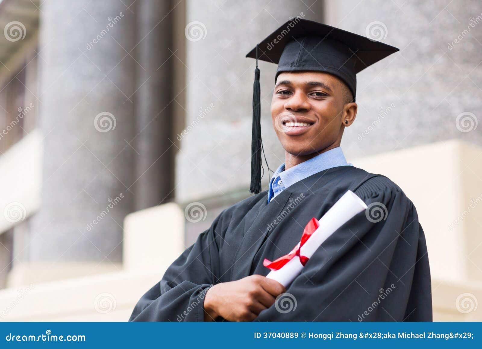 African American Graduate Stock Image Image Of Cute