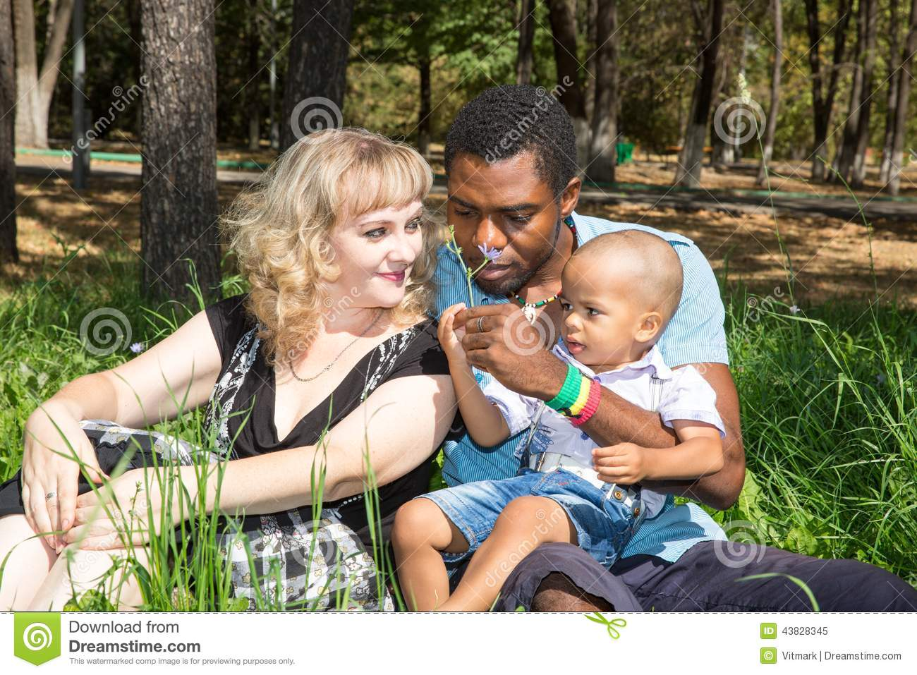 black mother white father children relationship