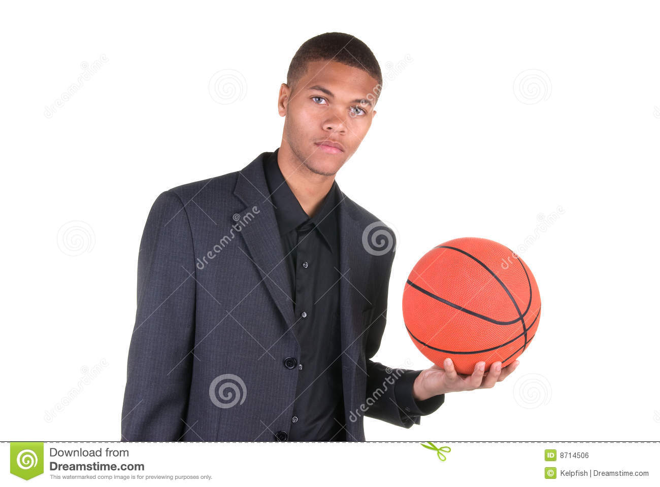 african american holding basketball stock photo image of dress