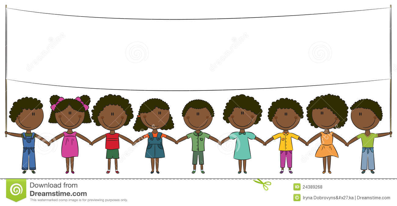African American Kids Stock Vector Image Of Illustration