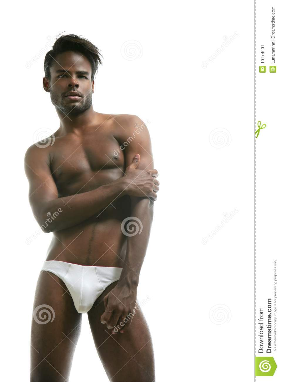 African American Male Model Underwear Stock Image Image