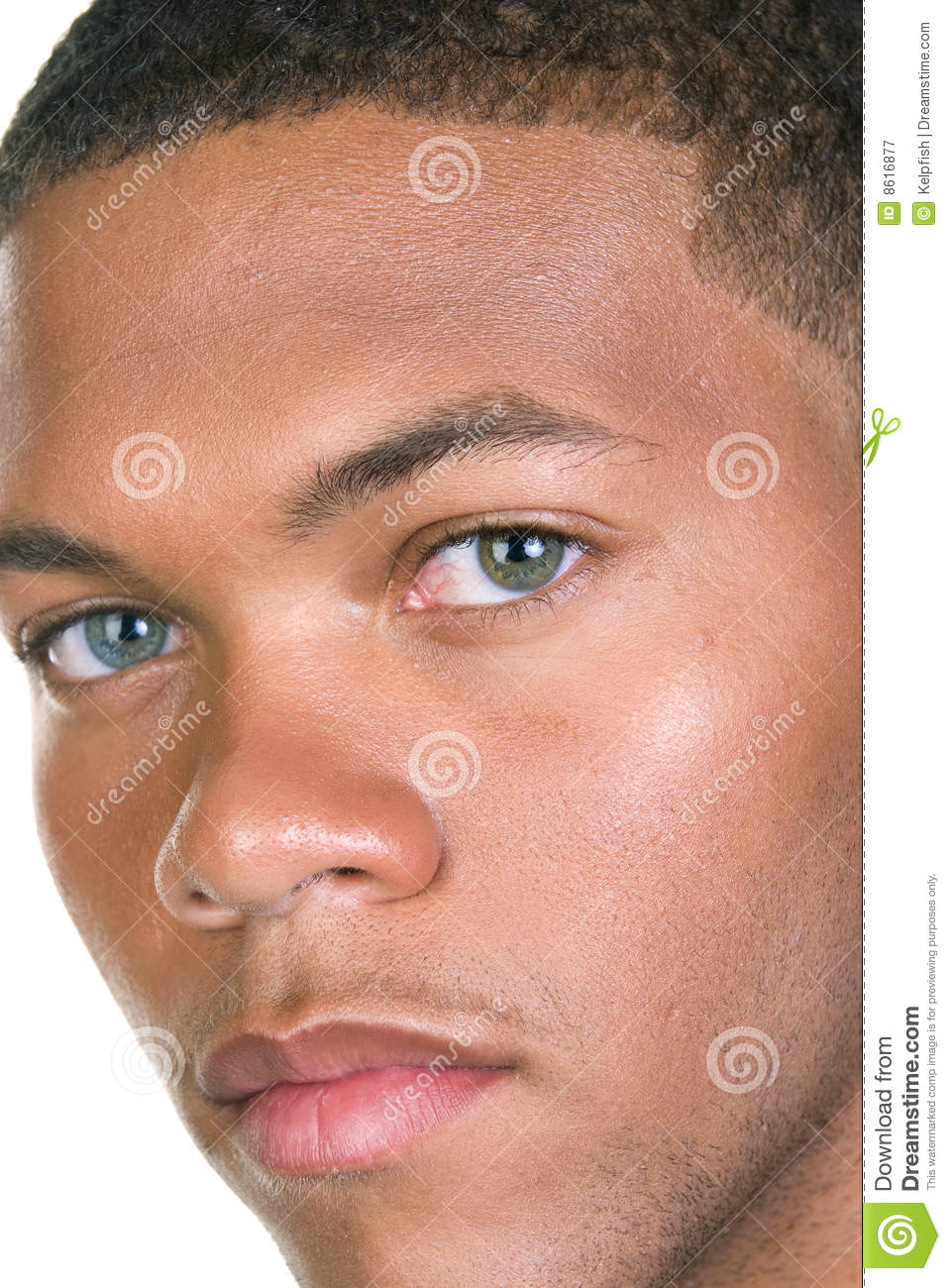 African American Male Portrait Stock Image Image Of Eyes