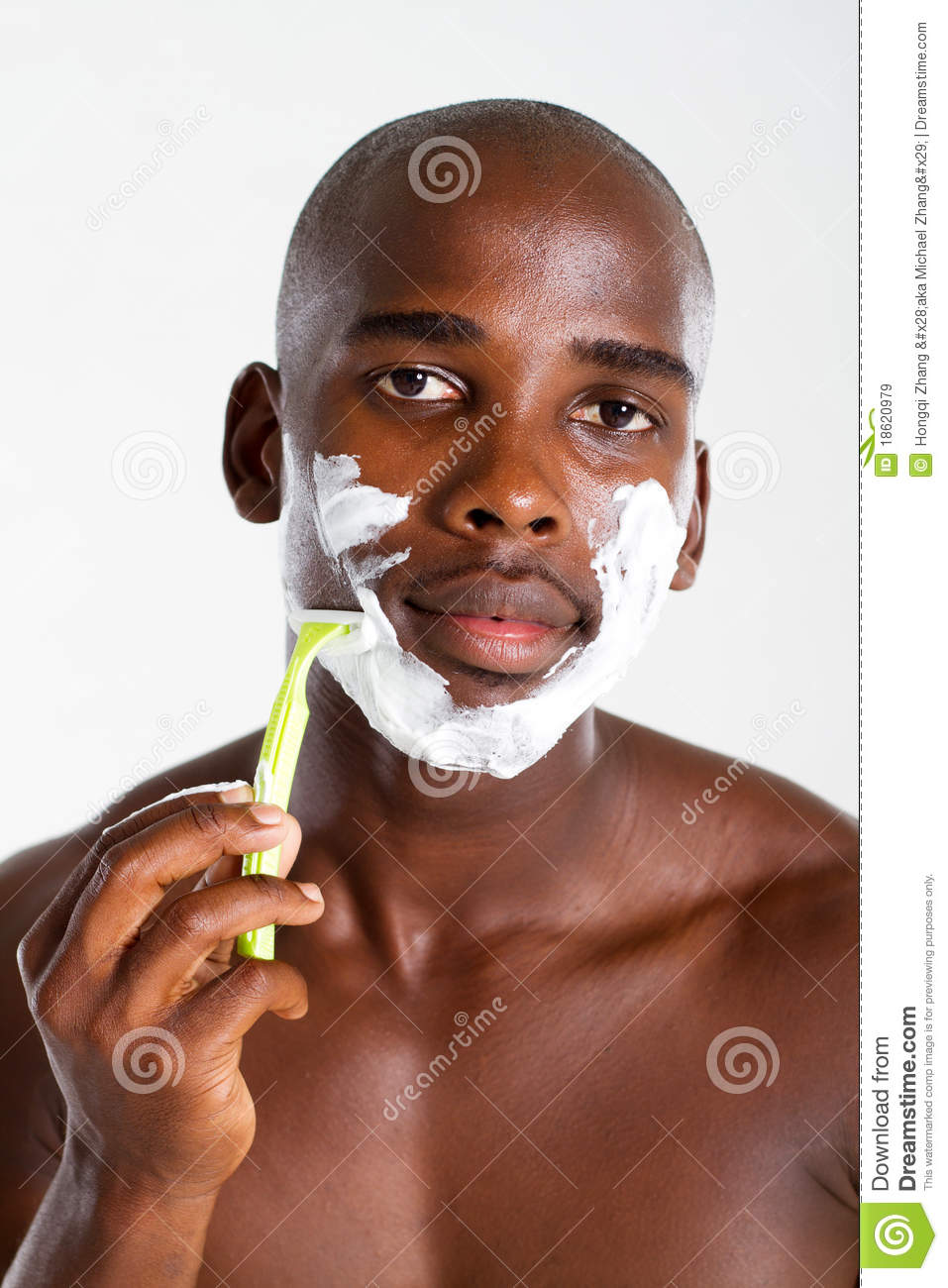 african american man shaving royalty free stock images image 18620979. Black Bedroom Furniture Sets. Home Design Ideas