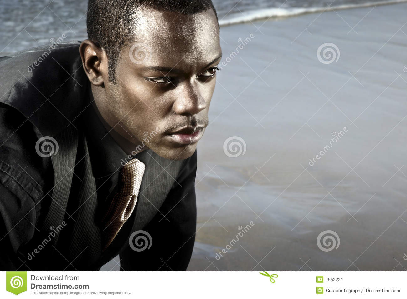 African american man in suit