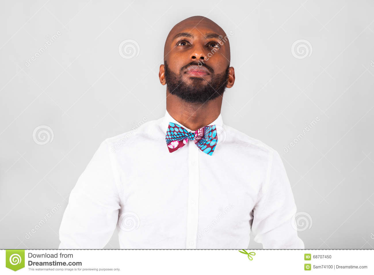 09466a85d73 African American Man Wearing An Tradional Bow Tie Stock Photo ...