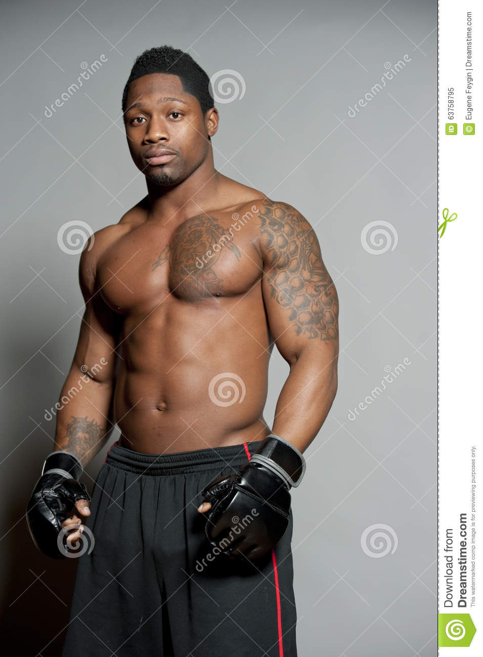 """""""African American MMA Fighter"""" Stock photo and royalty ...  