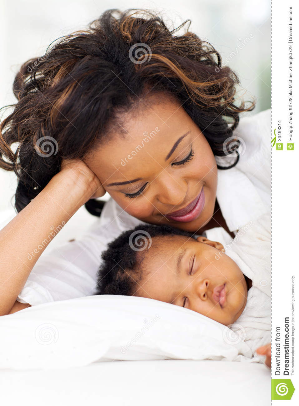 african american girl sleeping