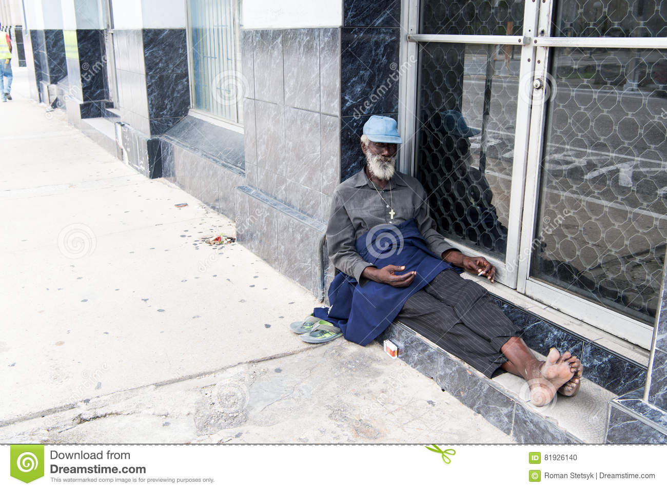 Black homeless street bum gets to fuck girls of his dreams 4