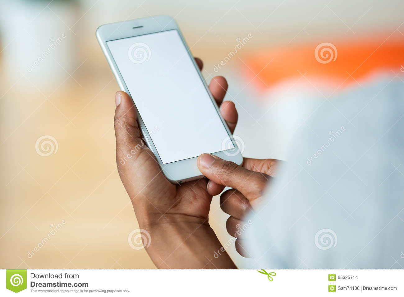 african american person holding a tactile mobile smartphone bl stock photo image 65325714. Black Bedroom Furniture Sets. Home Design Ideas