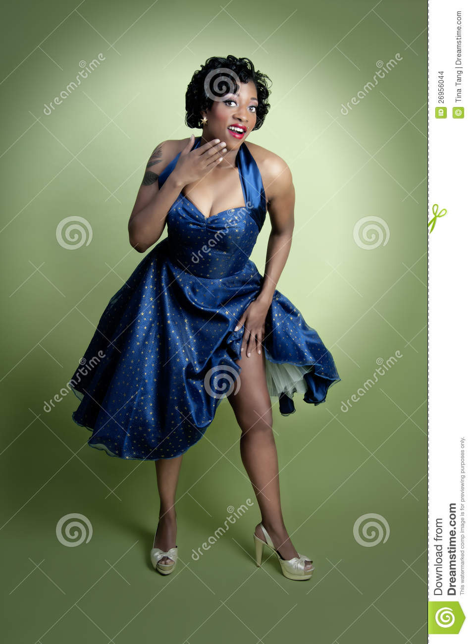 more similar stock images of african american pinup model