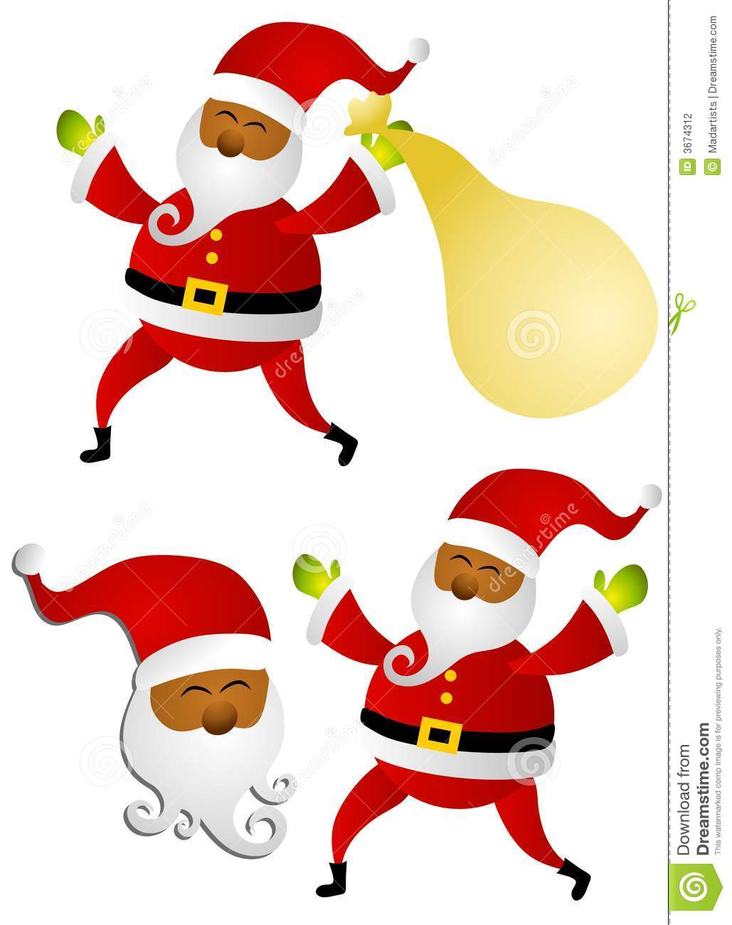 african american santa claus clip art stock illustration rh dreamstime com clipart santa claus sleigh clipart santa claus is coming to town