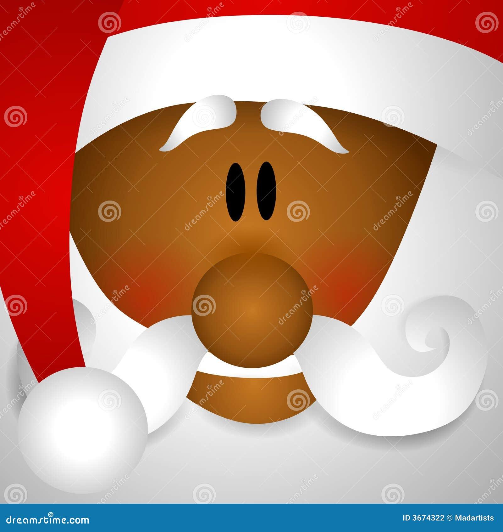 African American Santa Claus Clip Art Stock Illustration ...