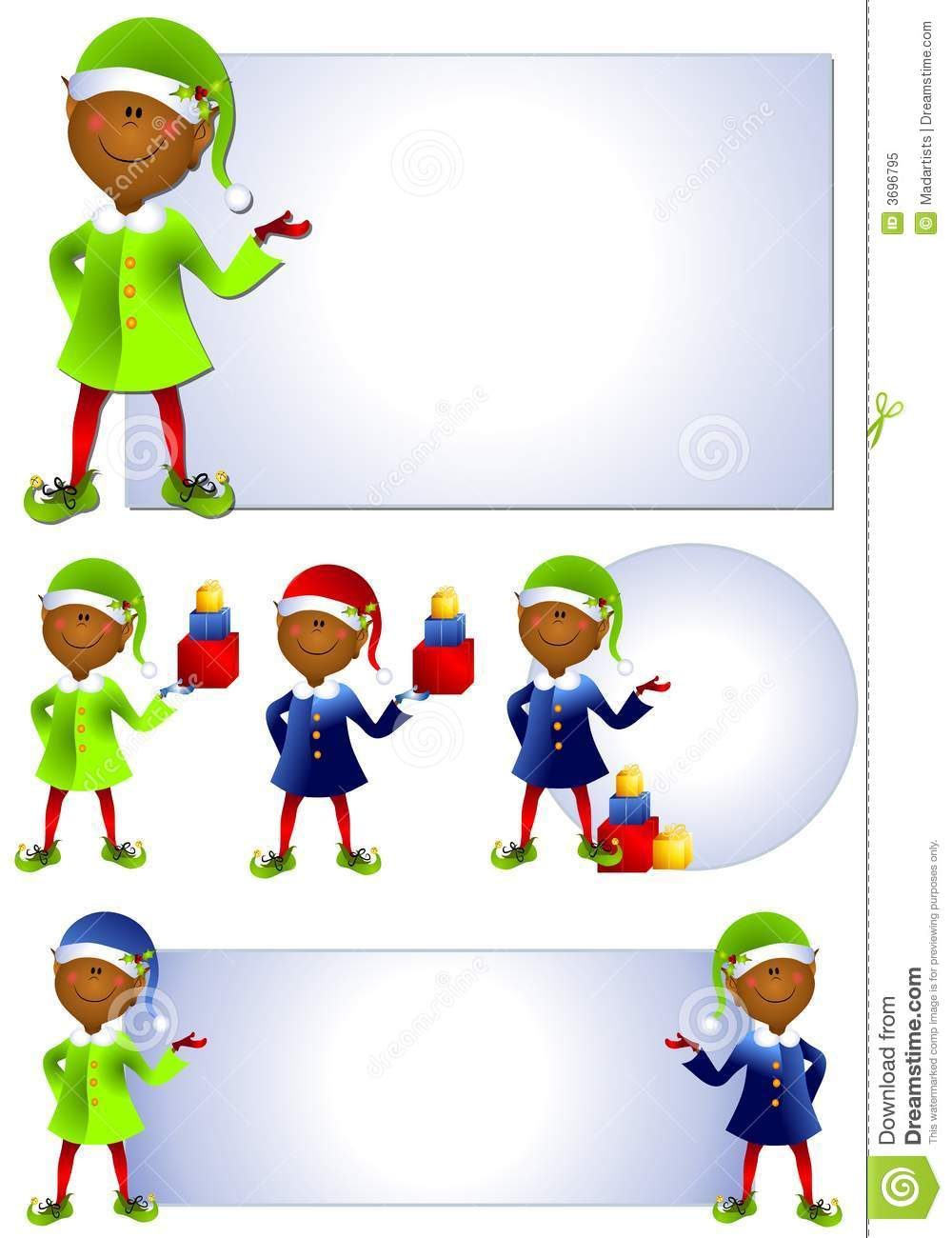 african american santa elf clip art stock illustration rh dreamstime com african american christian clipart images African American Church Clip Art