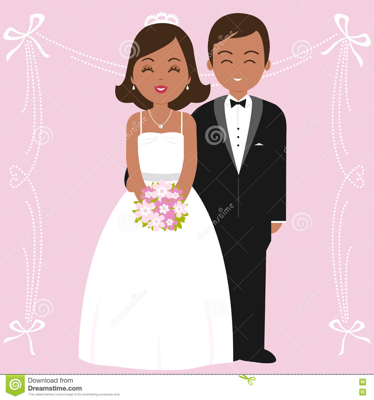 African American Bride Stock Illustrations – 204 African American ...