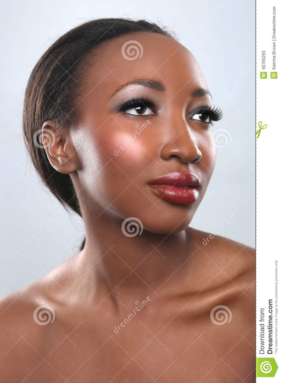 African American Woman With Beauty Makeup Stock Photo - Image ...