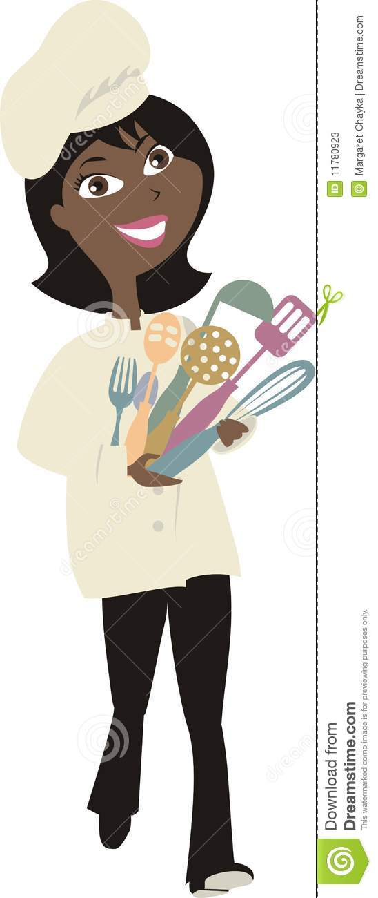 Gallery For Black Female Chef Clipart
