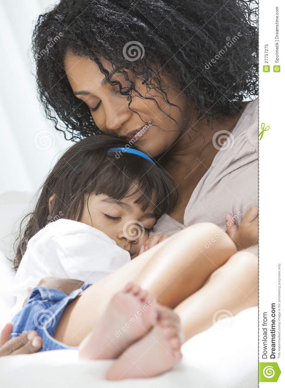 African American Woman Child Mother Daughter Stock Image ...