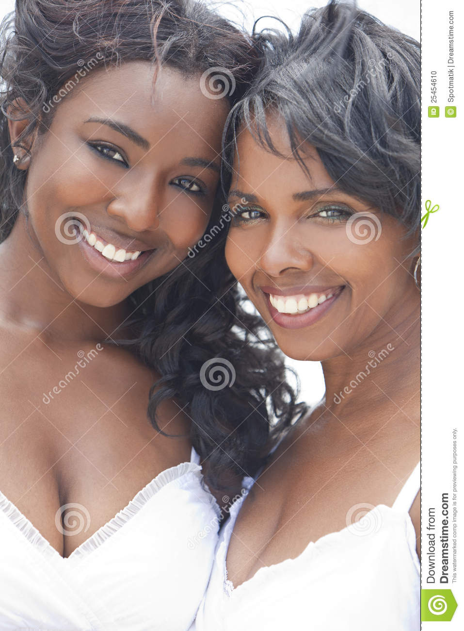 African American Woman & Girl, Mother Daughter