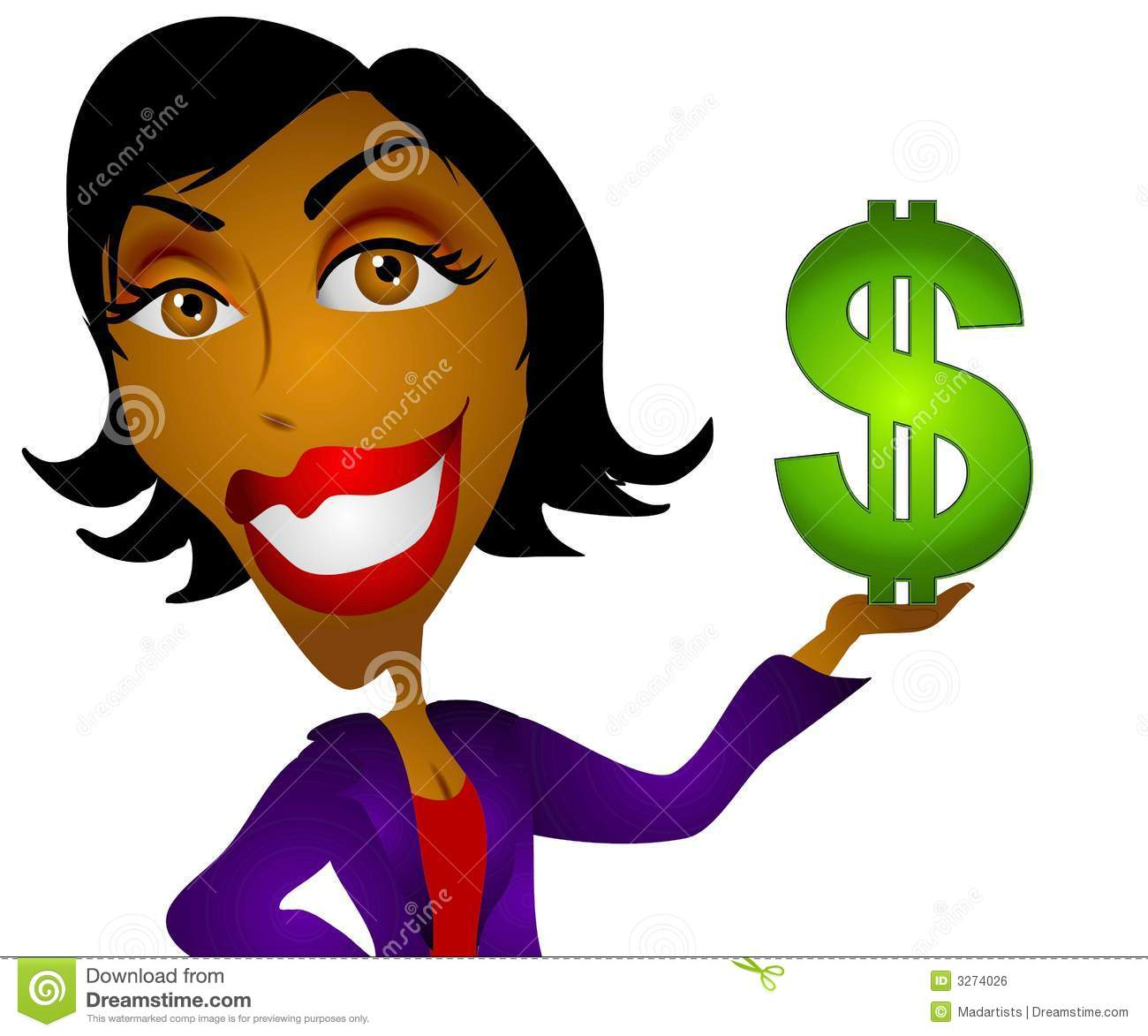 african american woman money stock illustration illustration of rh dreamstime com