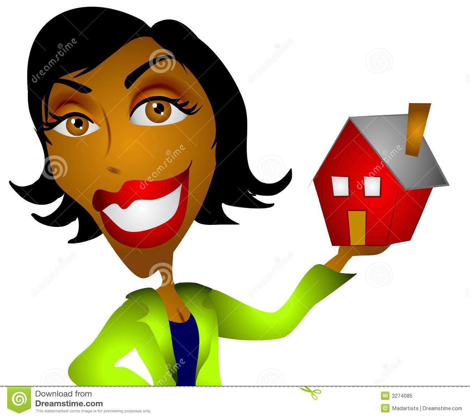 african american woman realtor stock illustration illustration rh dreamstime com african american woman clip art African American Women Silhouettes