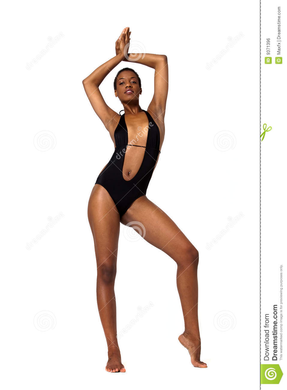 African American Woman In Swimsuit Royalty Free Stock