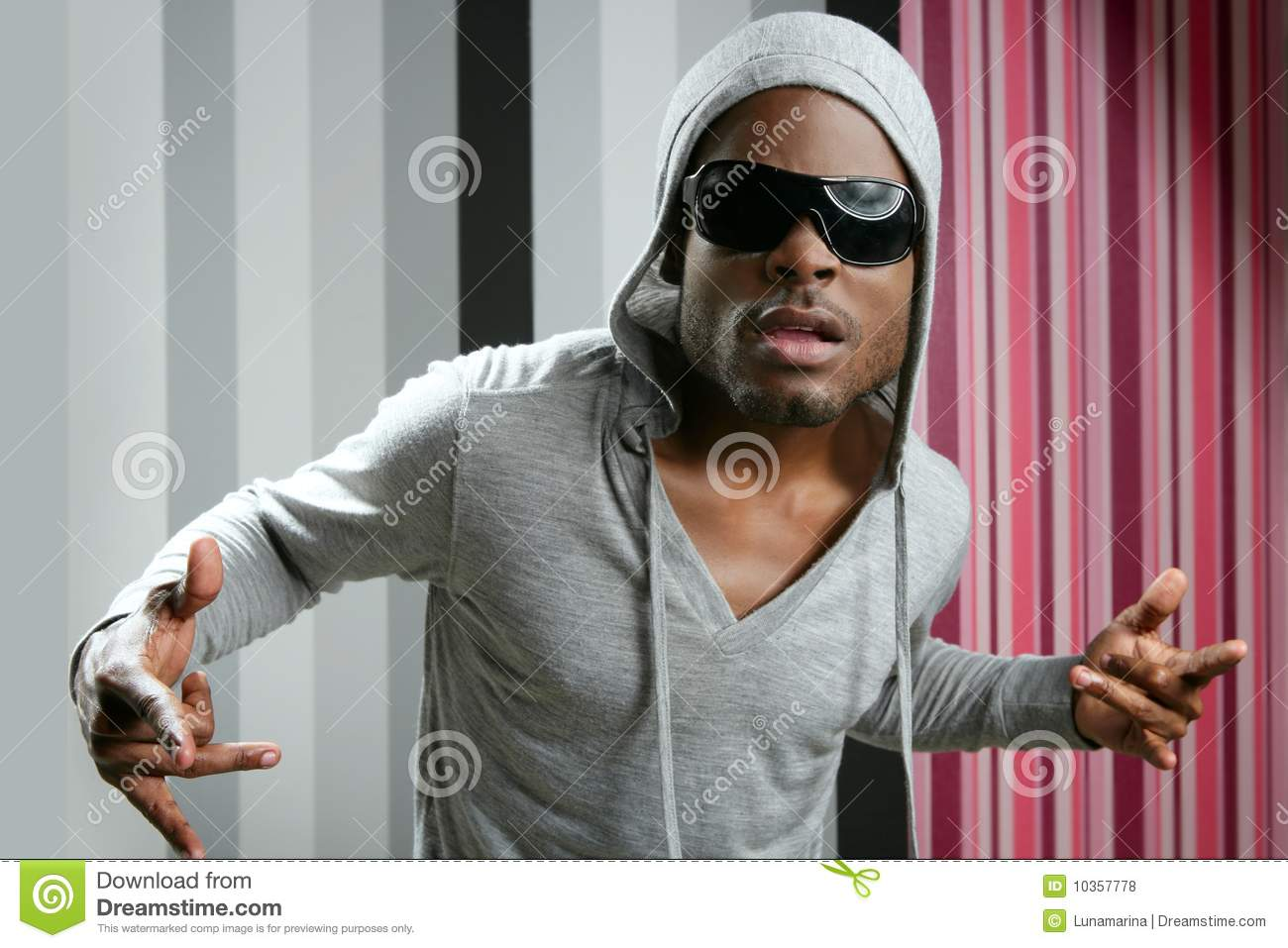 African American Young Black Man Rap Royalty Free Stock
