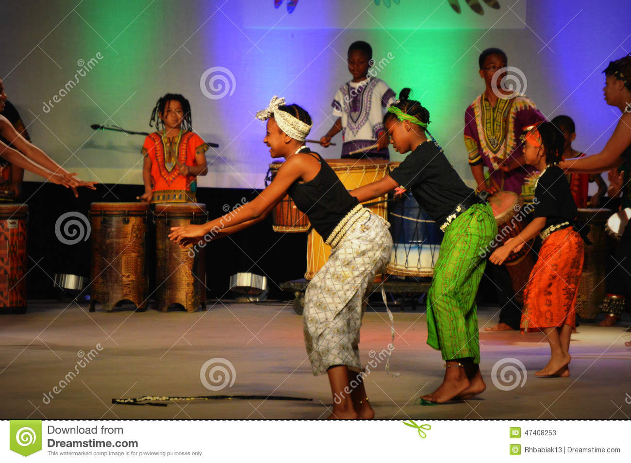 African American Youth Dancers Editorial Stock Photo