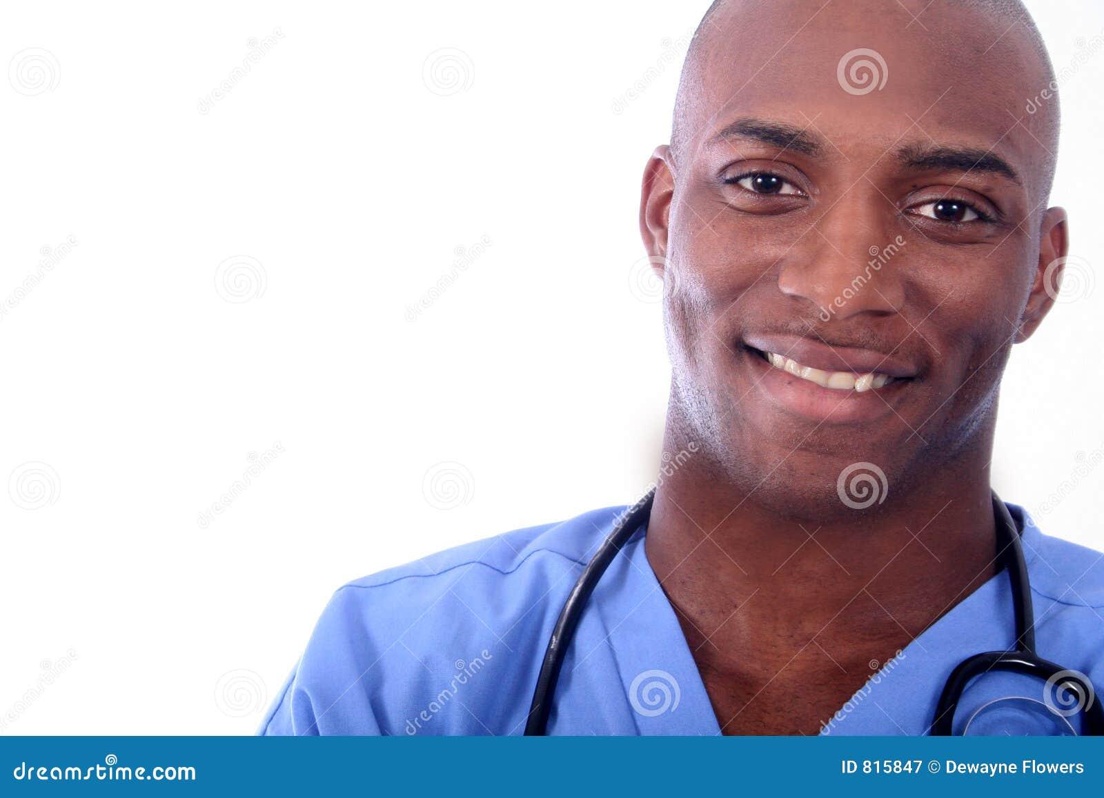 African Amrican Male Nurse