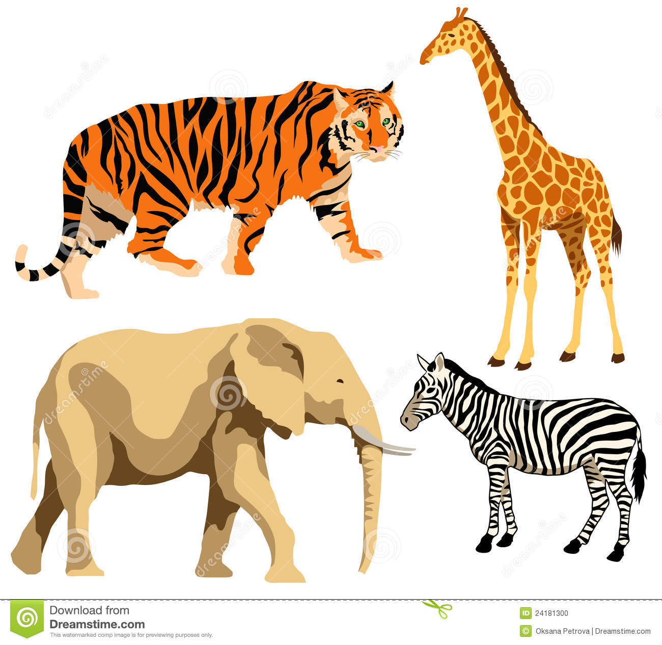 African animals stock vector. Illustration of animal ...