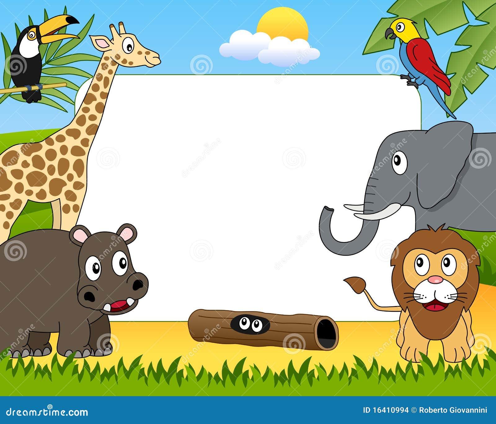 Zoo Animals Clip Art Border African Animals Photo ...