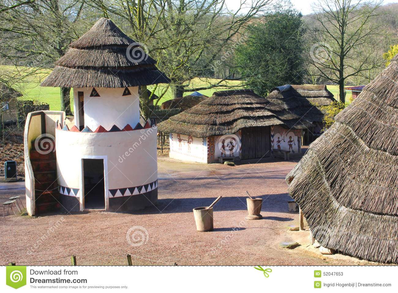 african architecture in the africa museum, berg en dal, groesbeek