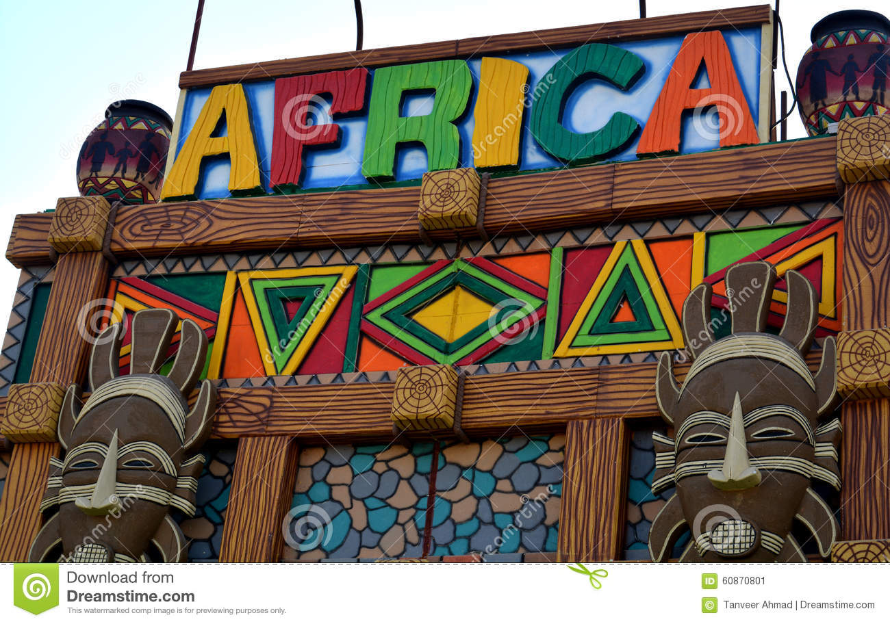 African art and craft view on wall stock image image for African arts and crafts